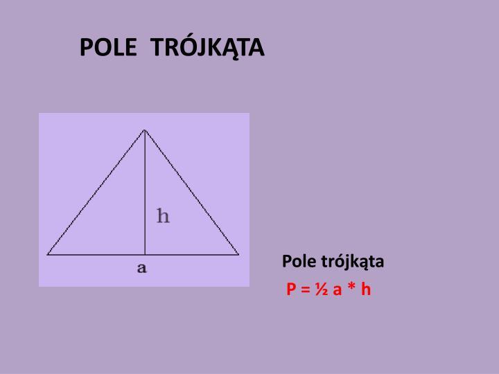 Pole trójkąta