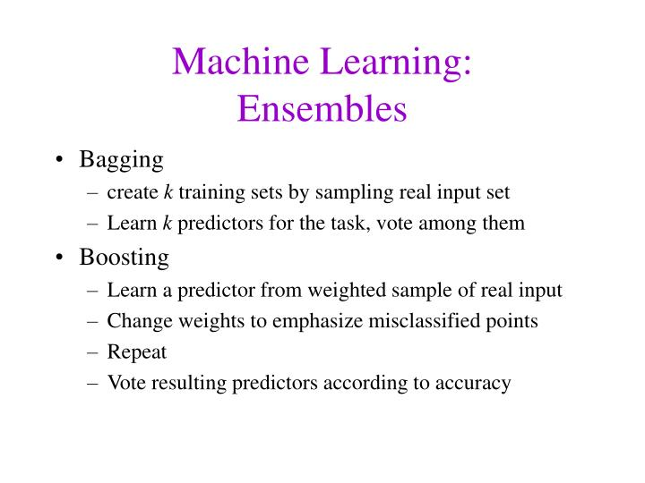 Machine Learning: