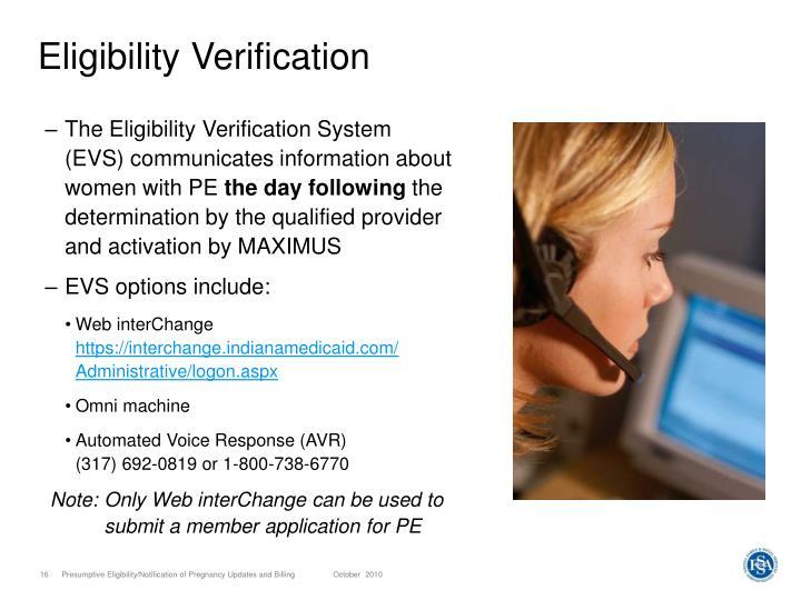 Eligibility Verification