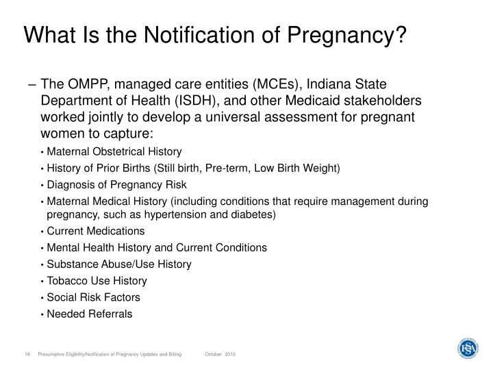 What Is the Notification of Pregnancy?