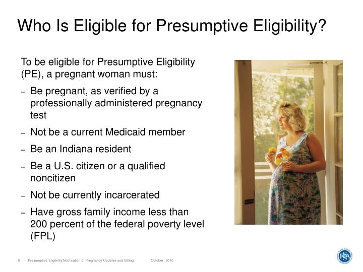 Who Is Eligible for Presumptive Eligibility?