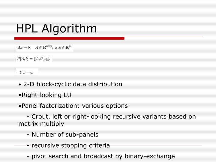 HPL Algorithm