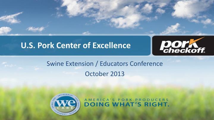 u s pork center of excellence