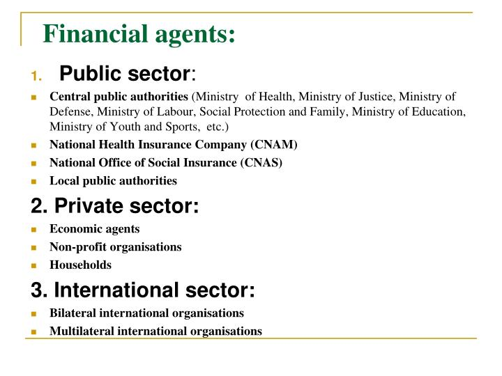 Financial agents
