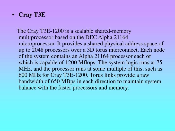 Cray T3E