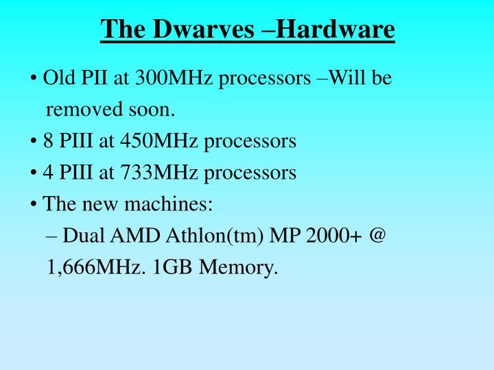 The Dwarves –Hardware