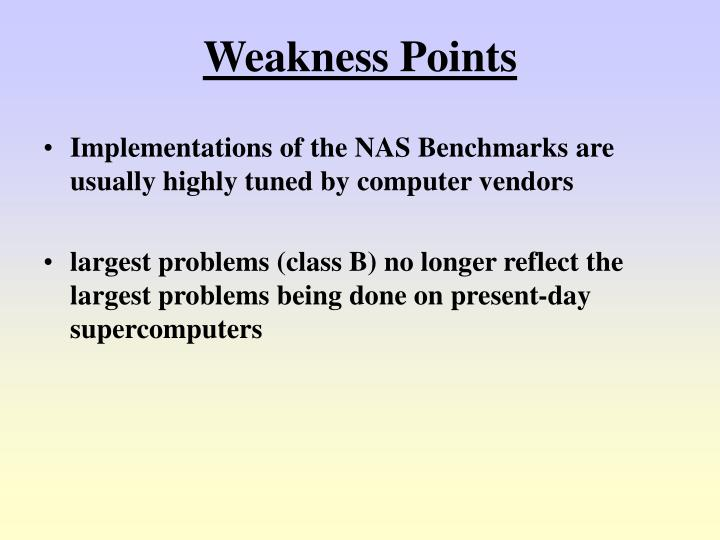 Weakness Points