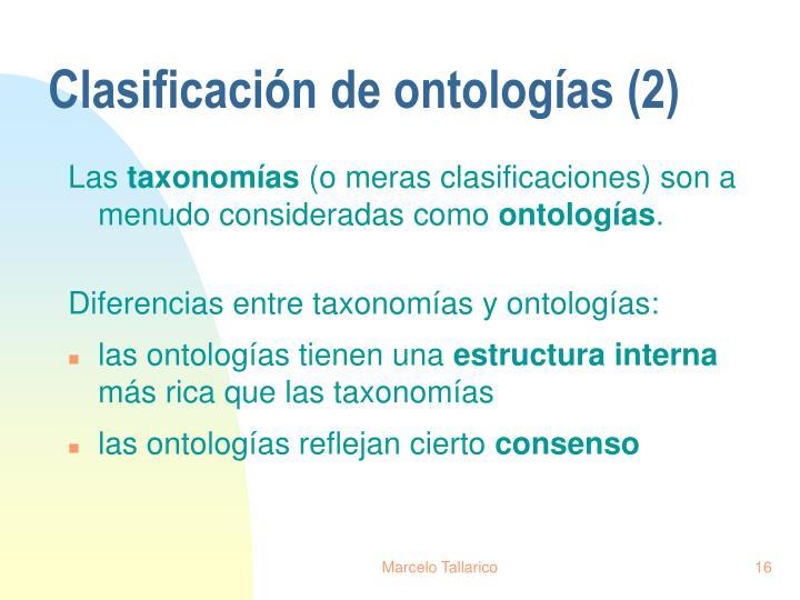 Clasificación de ontologías (2)