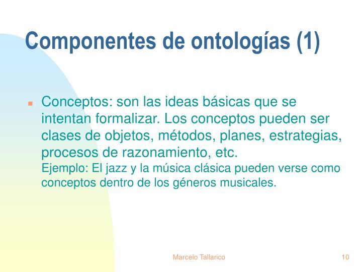 Componentes de ontologías (1)