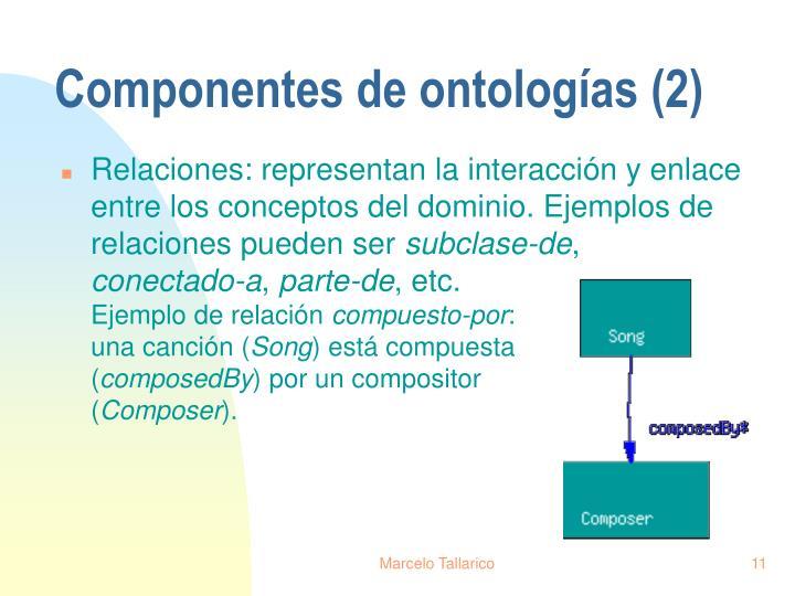 Componentes de ontologías (2)