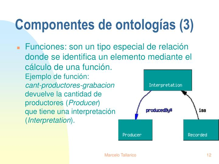 Componentes de ontologías (3)