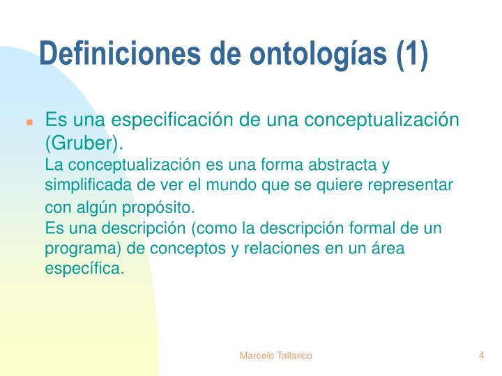 Definiciones de ontologías (1)