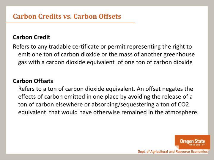 Carbon Credits vs. Carbon Offsets