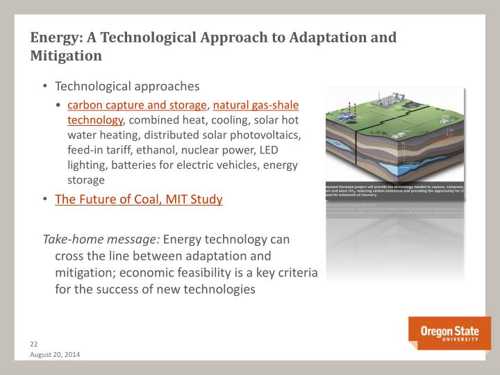 Energy: A Technological Approach to Adaptation and Mitigation