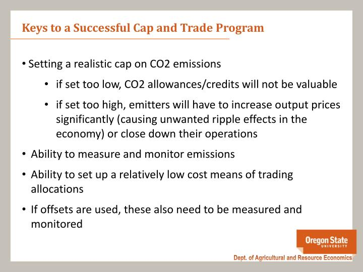 Keys to a Successful Cap and Trade Program