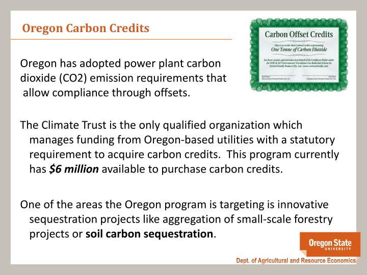 Oregon Carbon Credits