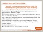 potential sources of carbon offsets