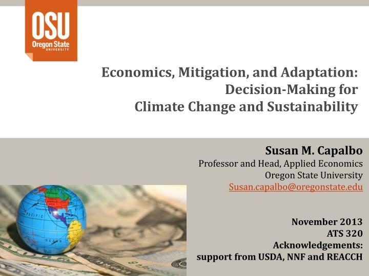Economics, Mitigation, and Adaptation: