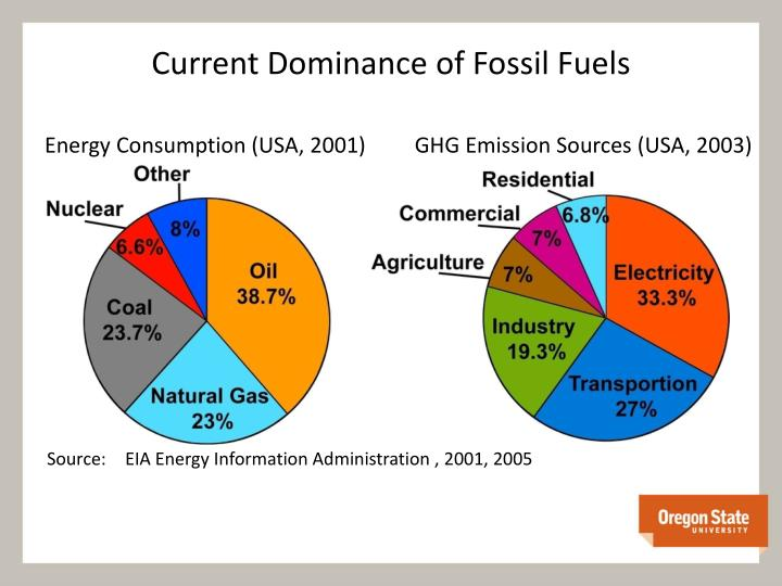 Current Dominance of Fossil Fuels