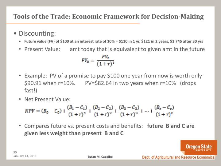 Tools of the Trade: Economic Framework for Decision-Making