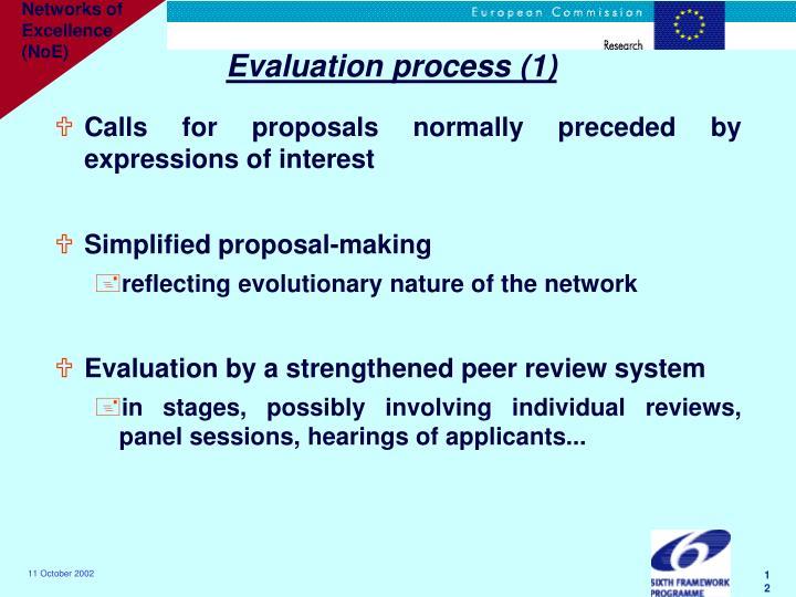 Evaluation process (1)