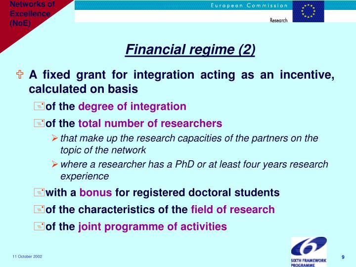 Financial regime (2)