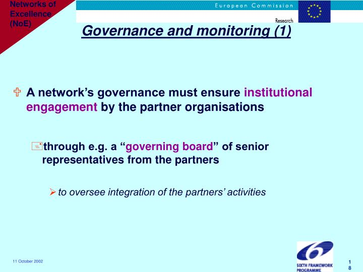 Governance and monitoring (1)