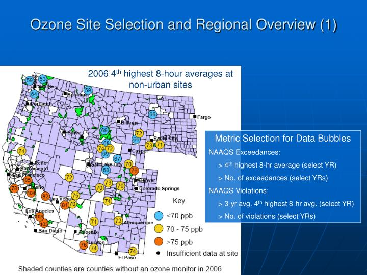 Ozone Site Selection and Regional Overview (1)