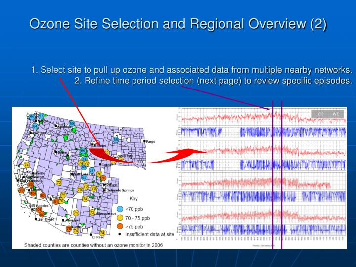 Ozone Site Selection and Regional Overview (2)