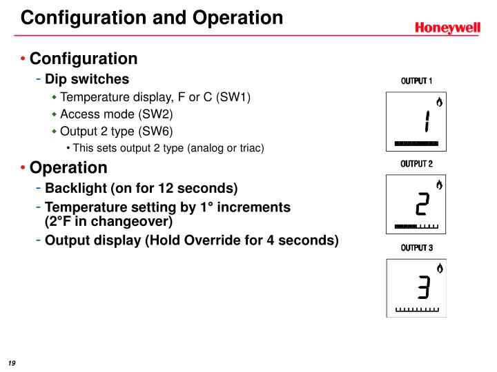 Configuration and Operation