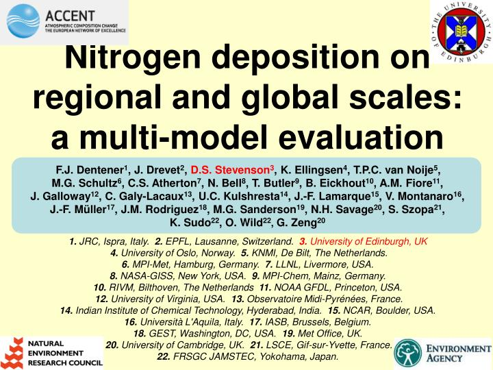 Nitrogen deposition on regional and global scales: