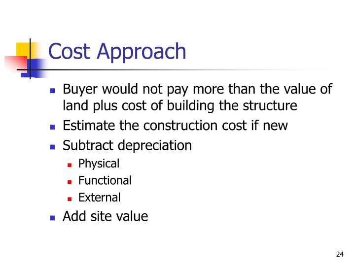 Cost Approach
