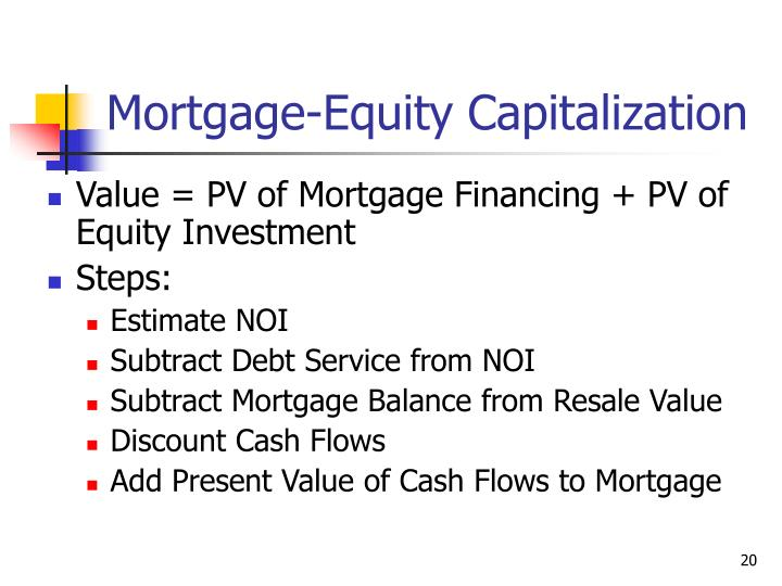 Mortgage-Equity Capitalization