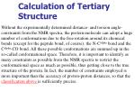 calculation of tertiary structure4