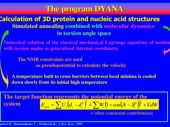 Calculation of 3D protein and nucleic acid structures