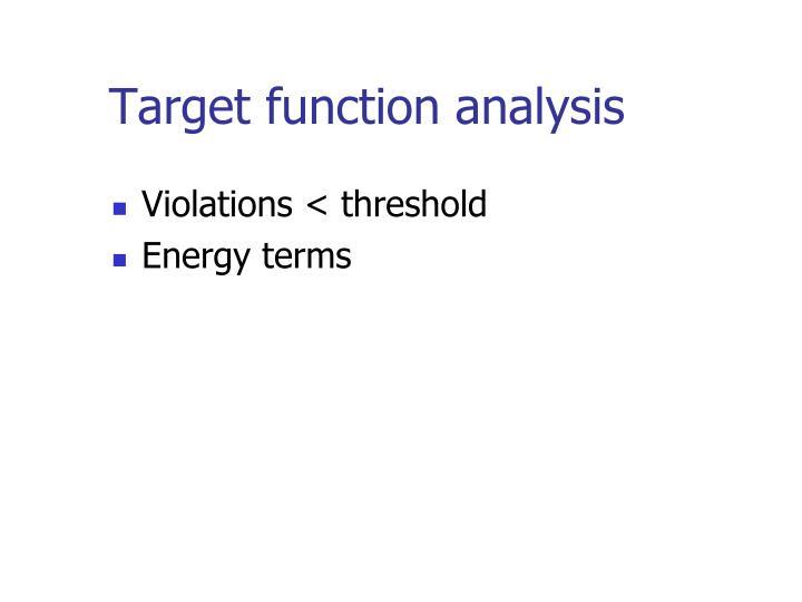 Target function analysis