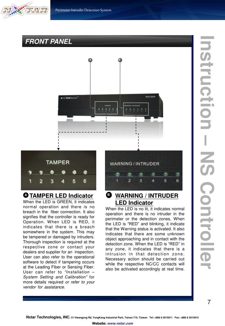 TAMPER LED Indicator