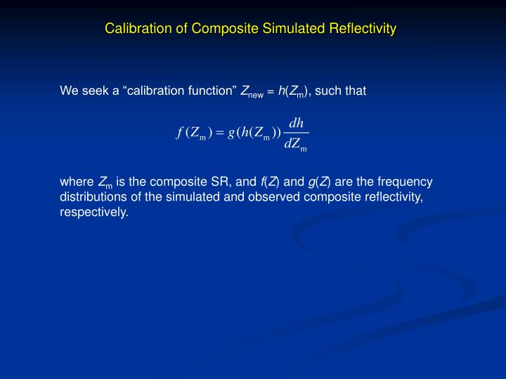Calibration of Composite Simulated Reflectivity