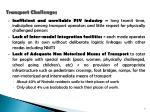 transport challenges