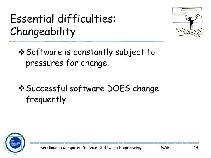 Essential difficulties: Changeability