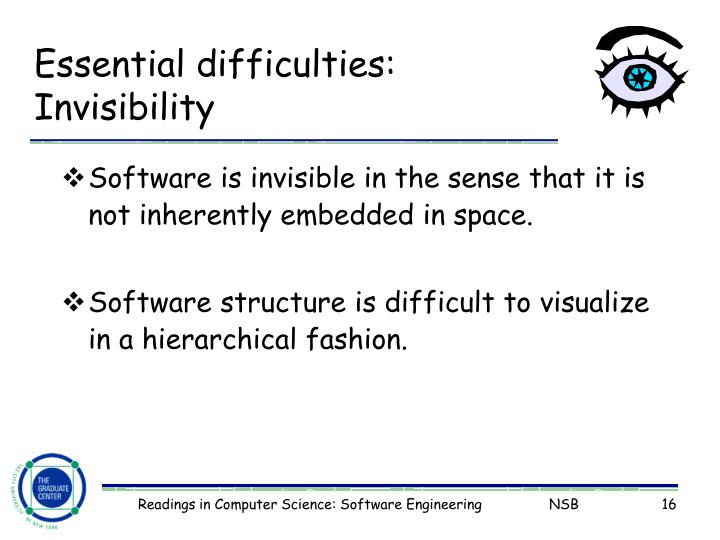 Essential difficulties: Invisibility