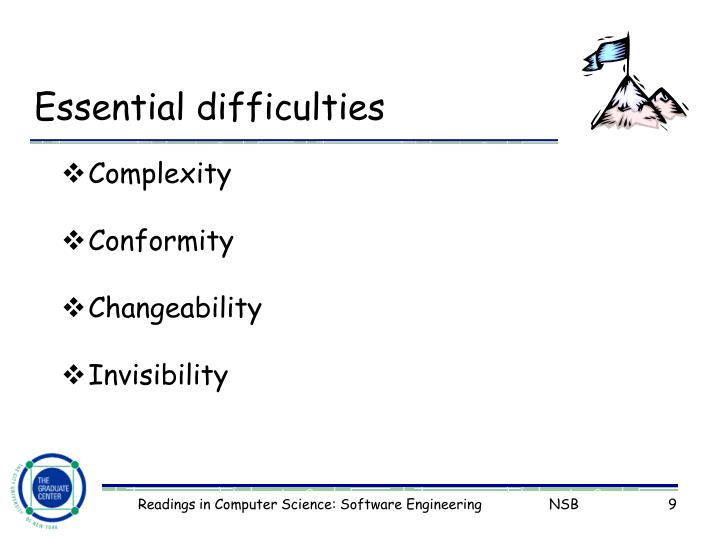 Essential difficulties