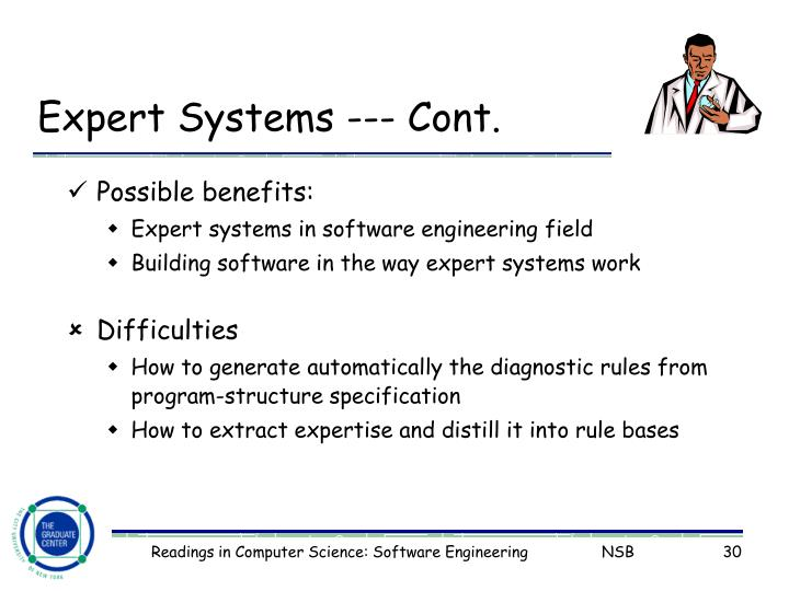 Expert Systems --- Cont.