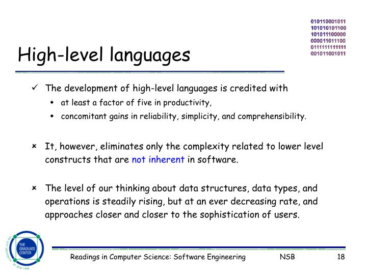 High-level languages