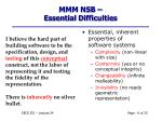 mmm nsb essential difficulties