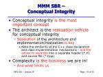 mmm sbr conceptual integrity