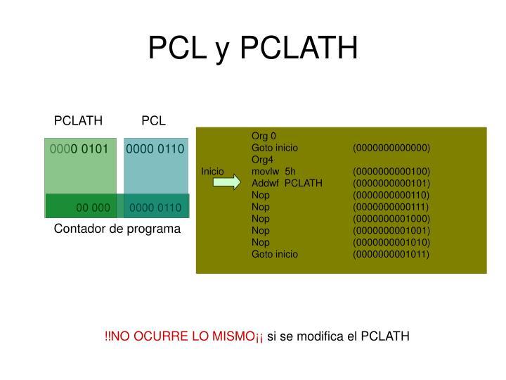 PCL y PCLATH