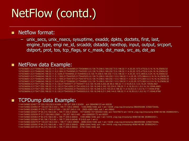 NetFlow (contd.)
