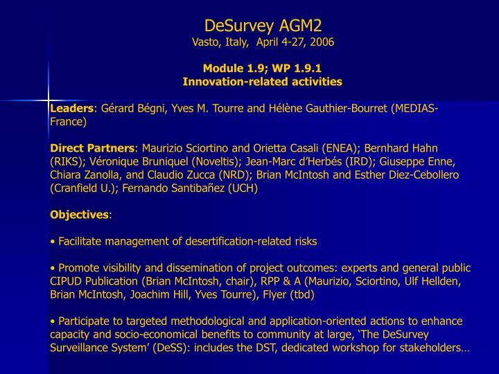 DeSurvey AGM2