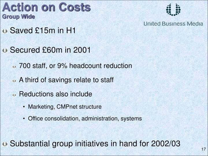 Action on Costs